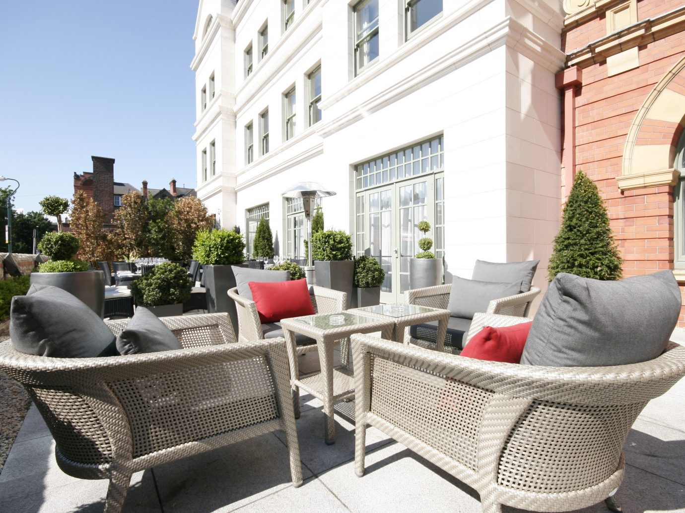Dublin Hotels Ireland property chair Living building furniture real estate Patio apartment home outdoor structure table estate house outdoor furniture interior design Courtyard Balcony window decorated