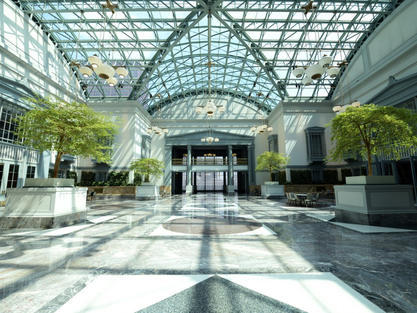 Budget building indoor plaza Architecture Courtyard greenhouse estate Lobby outdoor structure facade pavilion orangery palace court