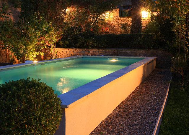tree swimming pool leisure backyard grass reflecting pool Villa landscape lighting lawn