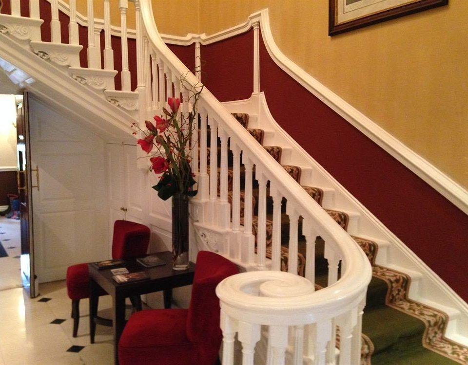 stairs property baluster home living room Villa cottage