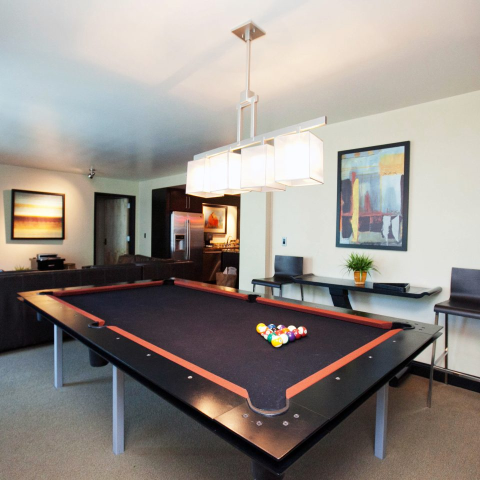 recreation room billiard room pool table property poolroom living room home Villa basement