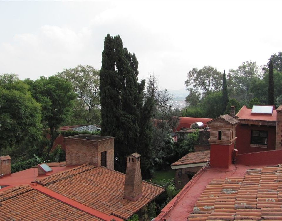 tree ground red property roof brick outdoor structure home temple Villa place of worship