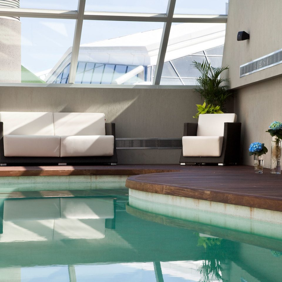 swimming pool property building green plant condominium daylighting Villa