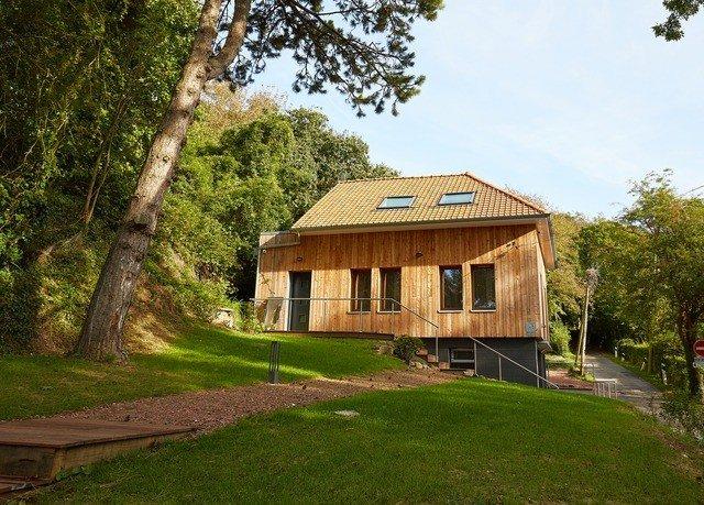tree grass sky house property building home cottage log cabin rural area Villa farmhouse grassy lush