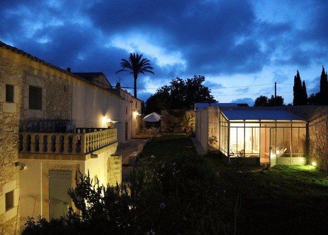 sky building house property home night residential area Villa lighting evening mansion landscape lighting hacienda