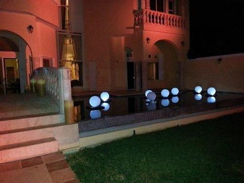 property building hacienda mansion screenshot landscape lighting Villa