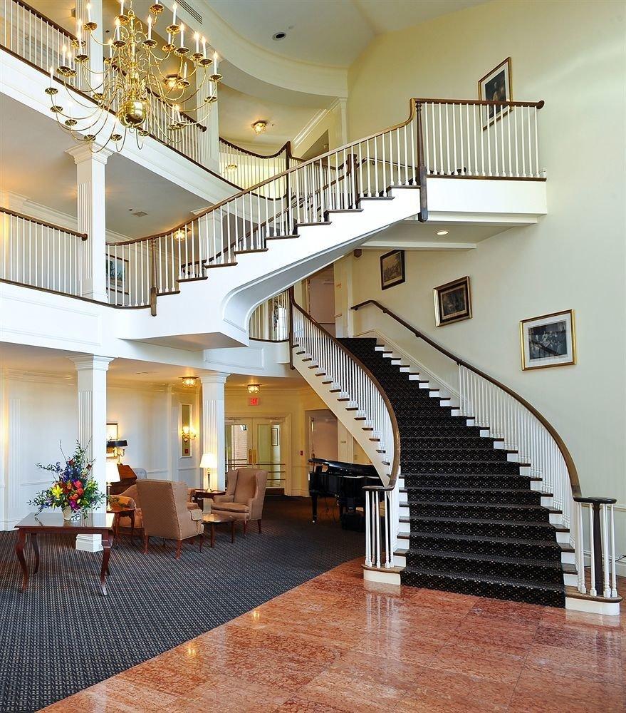 stairs property hardwood home mansion Villa condominium living room