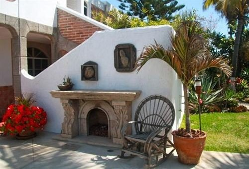 tree property cottage Villa masonry oven hacienda plant stone