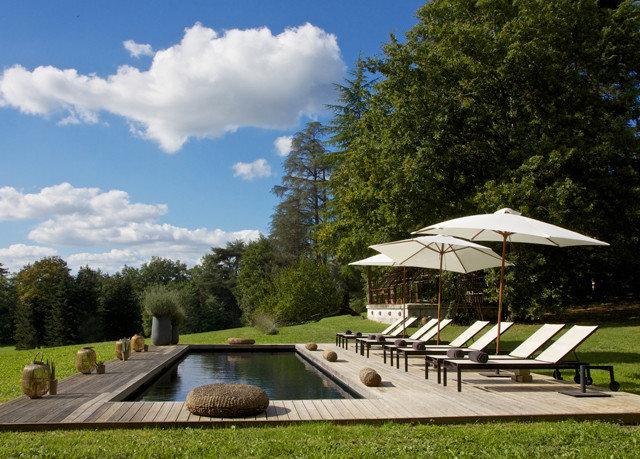tree grass sky park swimming pool Villa lush day