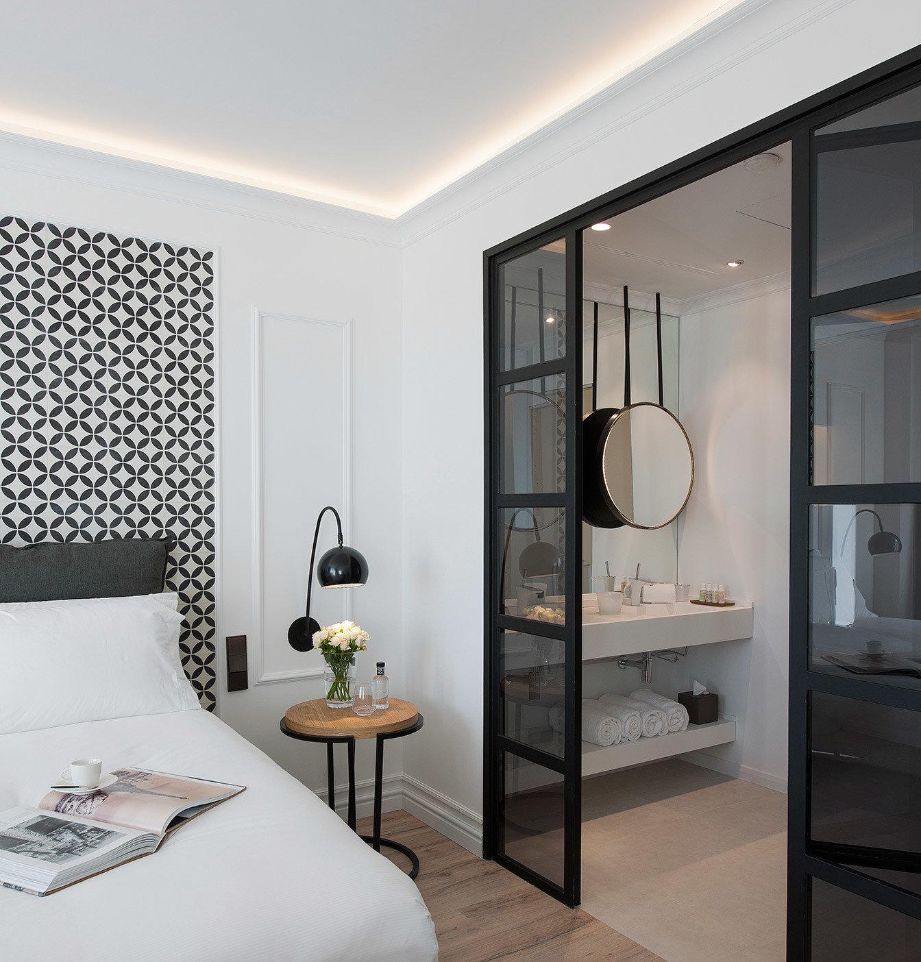Boutique Hotels Hotels indoor wall bed room floor property interior design bathroom Bedroom home real estate Design Suite apartment decorated furniture