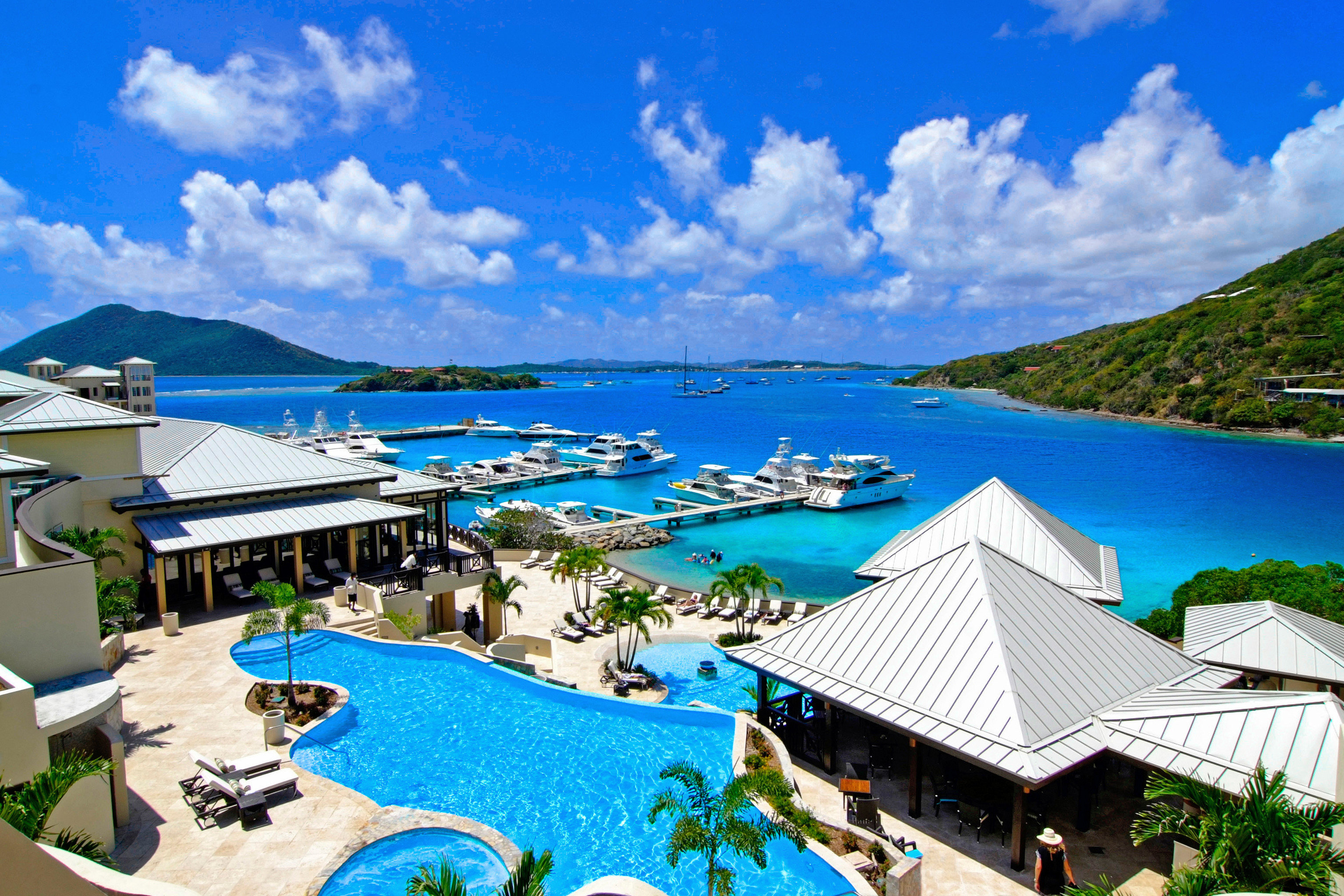 All-inclusive Beach Beachfront Dining Luxury Ocean Pool Secret Getaways Trip Ideas sky outdoor mountain geographical feature leisure Resort caribbean vacation estate swimming pool resort town Nature bay Sea Lagoon overlooking
