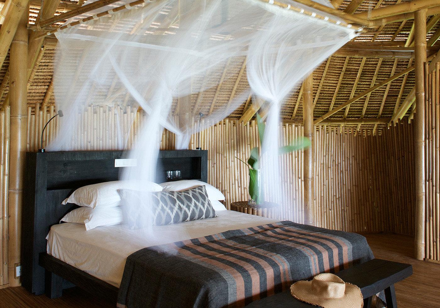 Hotels indoor room property Bedroom interior design furniture bed four poster Resort estate cottage