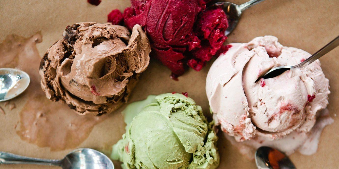 Food + Drink Trip Ideas cake ice cream food indoor dessert gelato dish dairy product organ chocolate ice cream produce icing chocolate baking flavor pavlova close cream