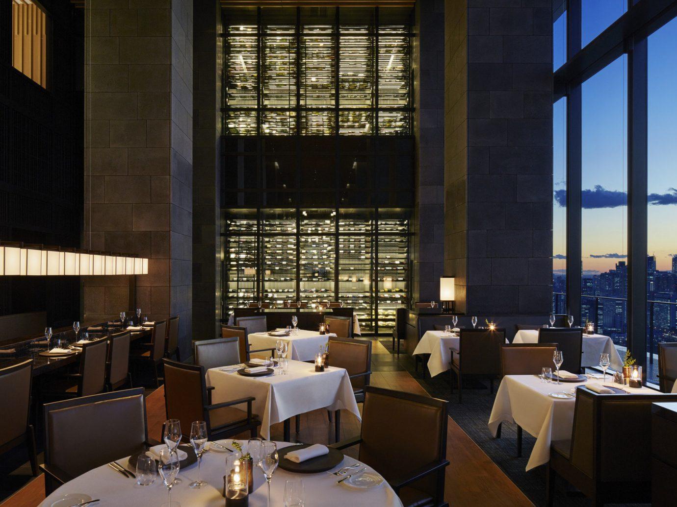 Food + Drink window indoor restaurant interior design Design window covering overlooking