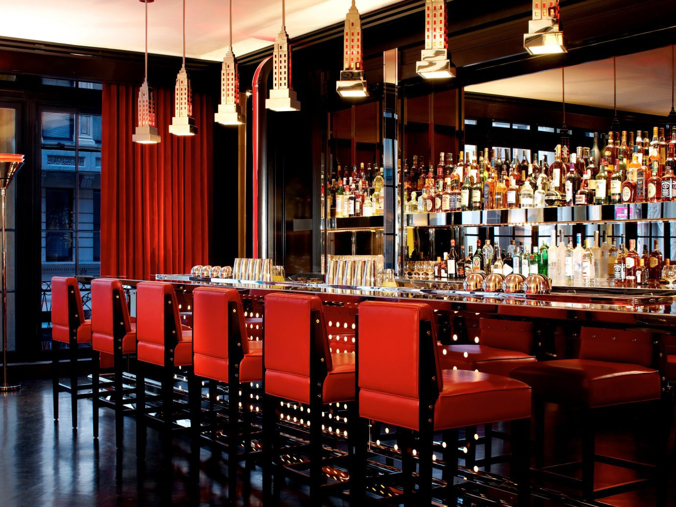 Bar Dining Drink Eat Hotels Luxury Luxury Travel Modern building table indoor red function hall interior design restaurant meal nightclub several dining room