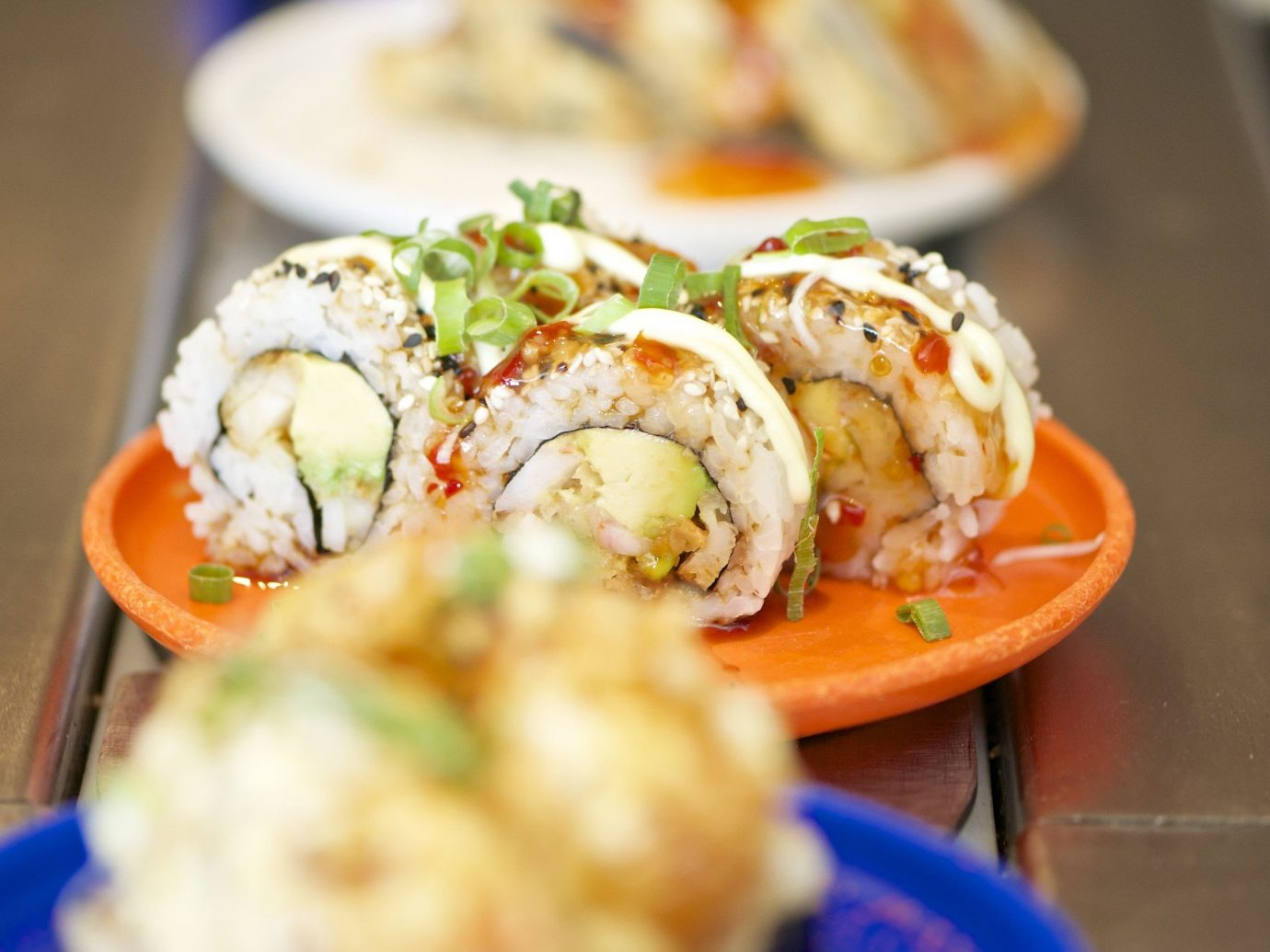 Food + Drink food dish indoor meal cuisine sushi hors d oeuvre breakfast asian food produce Seafood several