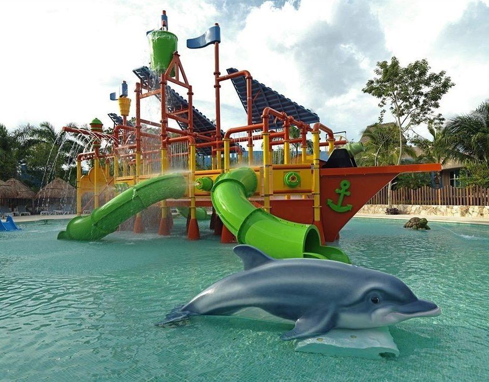 sky green amusement park park leisure Water park mammal aquatic mammal dolphin