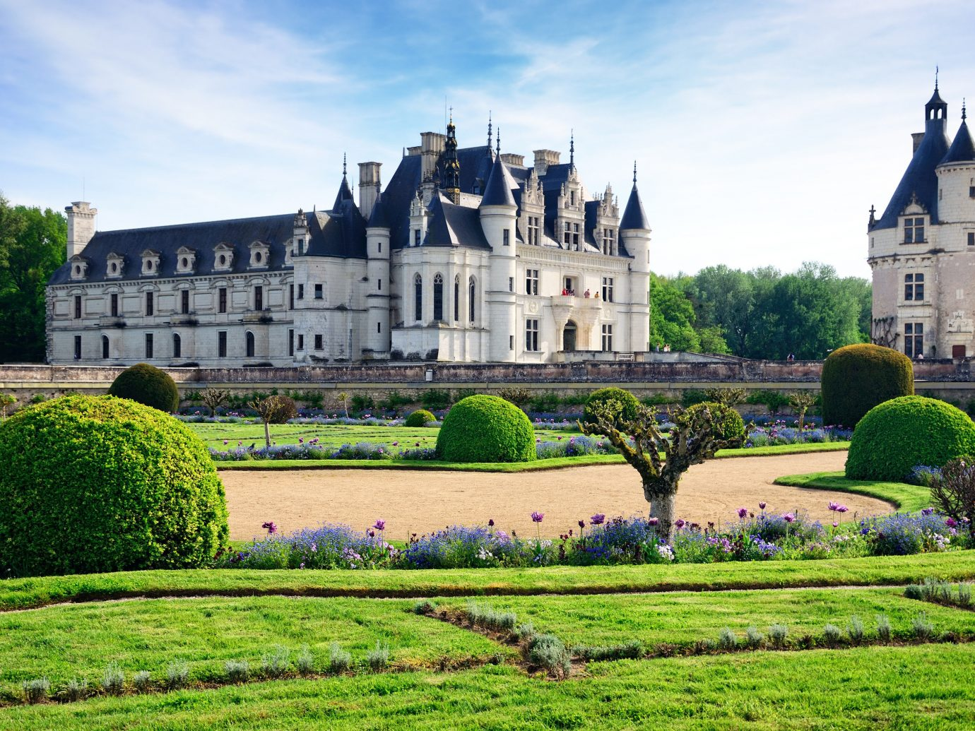 Trip Ideas grass outdoor sky building castle château stately home Church house estate palace tourism monastery old manor house Garden abbey stone surrounded