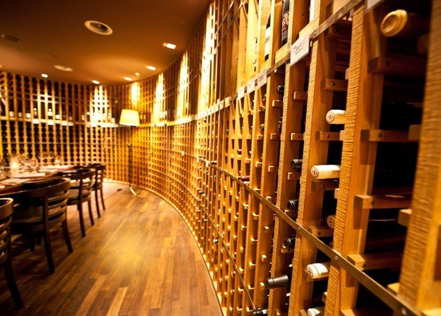 man made object Winery wine cellar aisle basement