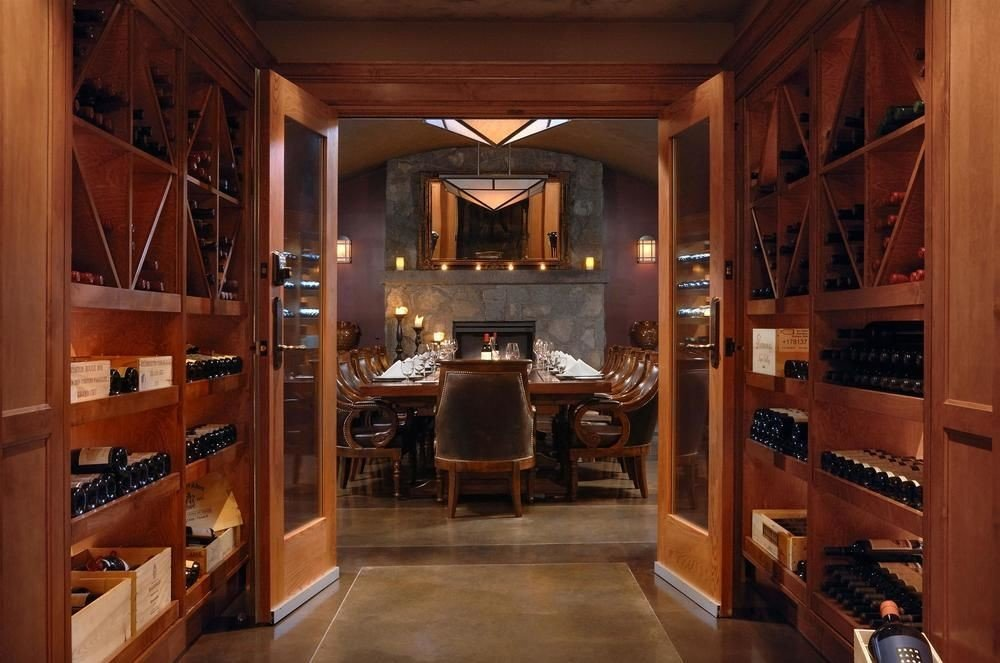property cabinetry home Winery basement wooden mansion wine cellar