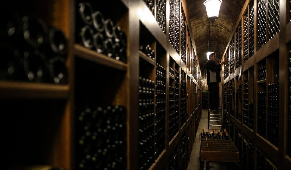 Winery basement computer wine cellar file