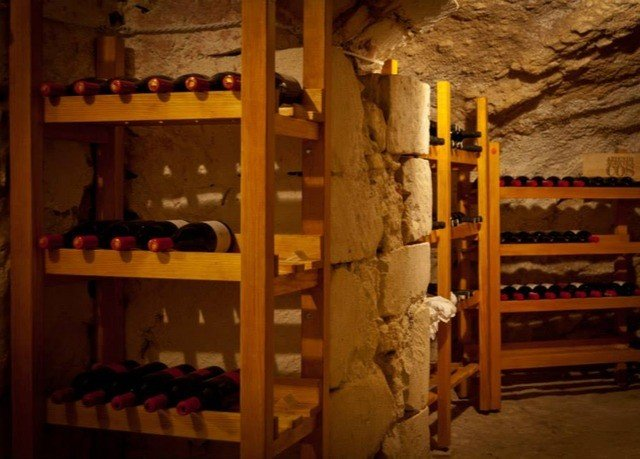 man made object basement Winery shelf wine cellar