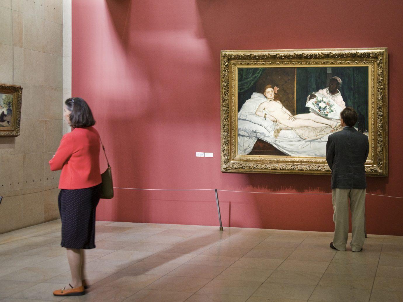 Paintings hanging in Musee d'Orsay in Paris