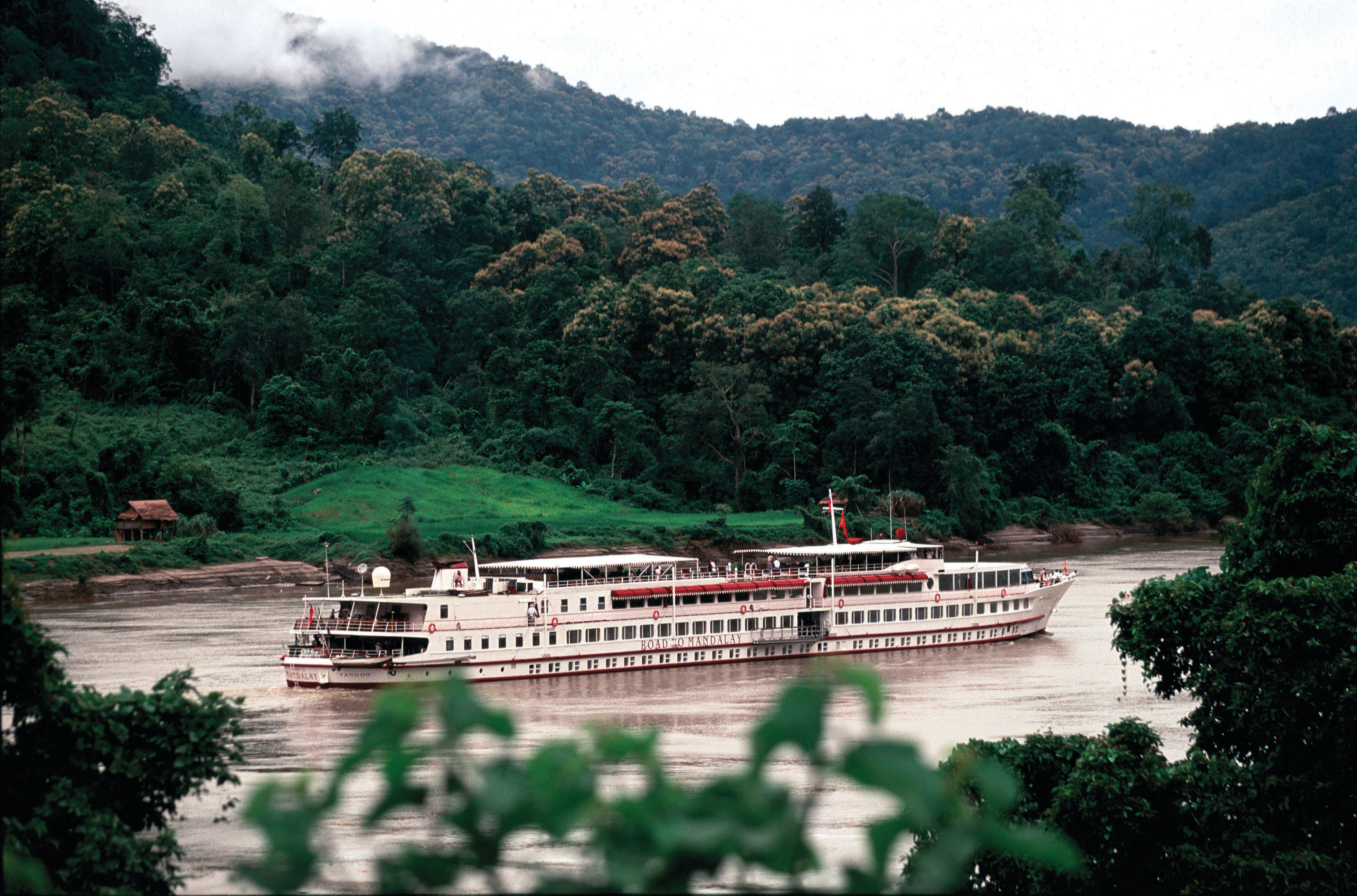 Food + Drink tree outdoor mountain River transport vehicle reservoir bay Lake Forest traveling bushes