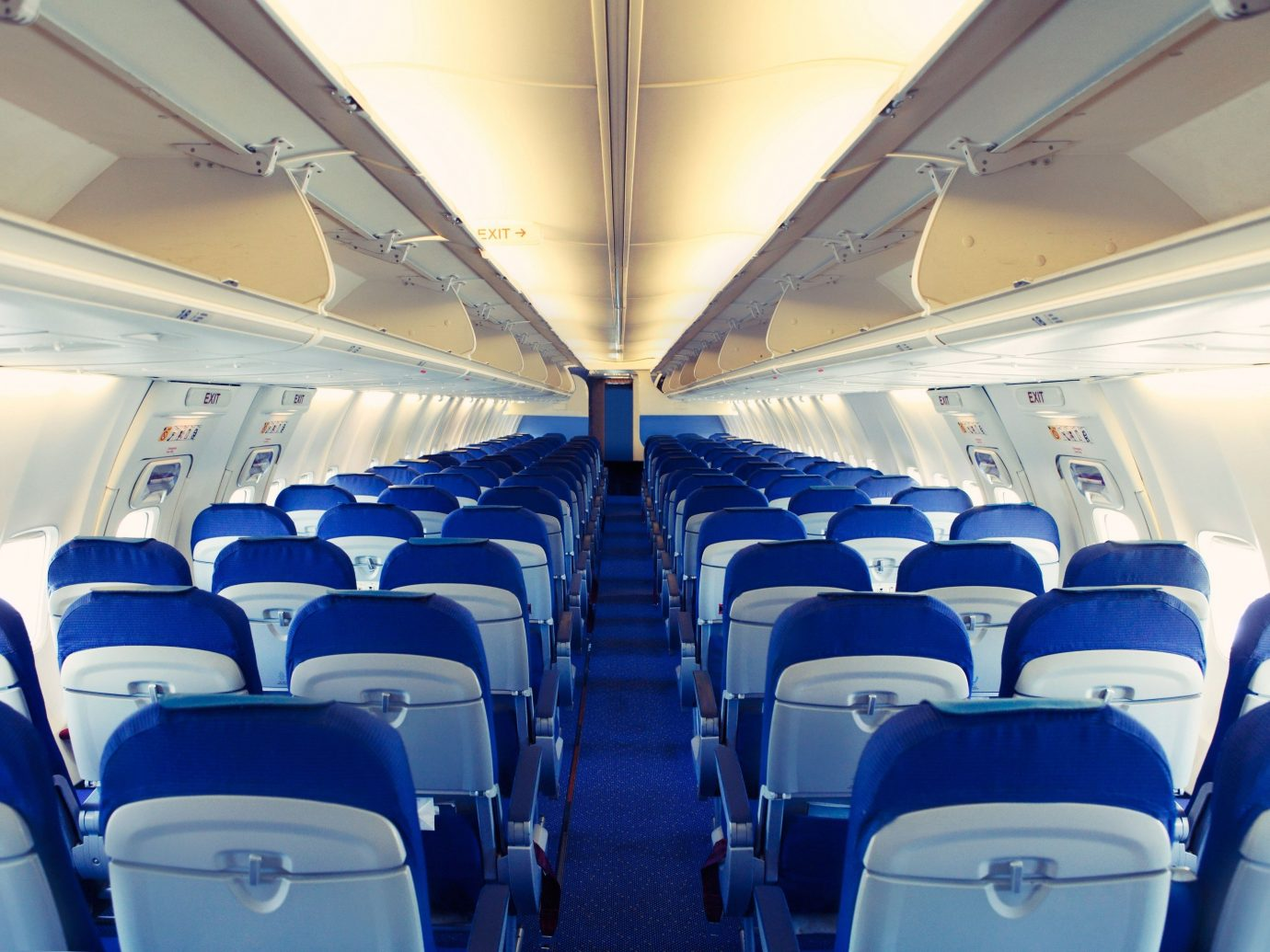 Offbeat Cabin indoor airline transport air travel vehicle scene airplane ceiling aircraft aircraft cabin train passenger aviation public transport airliner jet aircraft