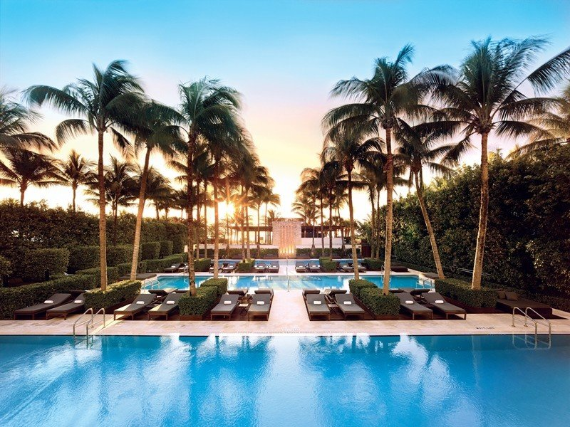 City Hotels Luxury Miami Miami Beach Resort swimming pool property leisure estate resort town palm tree vacation hotel real estate caribbean arecales tropics water sky tourism condominium hacienda Villa tree computer wallpaper