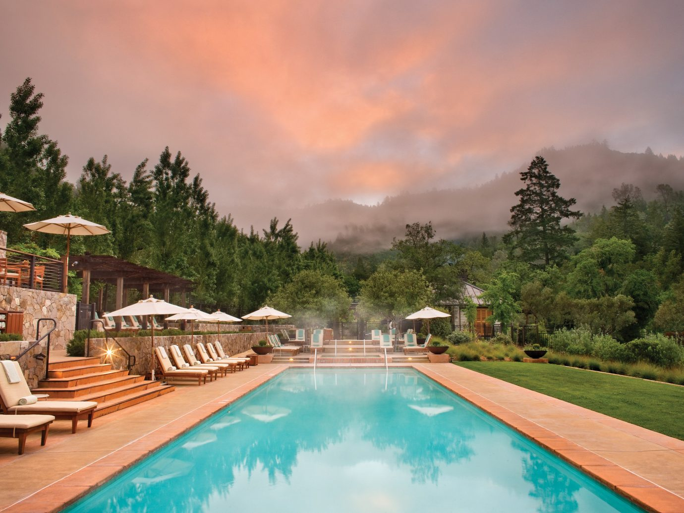 Eco Food + Drink Health + Wellness Hotels Luxury Outdoors Pool Ranch Romance Romantic Rustic Scenic views Spa Retreats Wellness tree outdoor swimming pool estate vacation Resort Villa