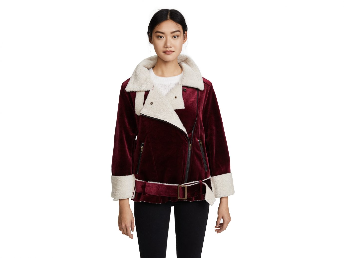 Style + Design Travel Shop person shoulder standing jacket outerwear fashion model posing coat product sleeve joint costume trouser