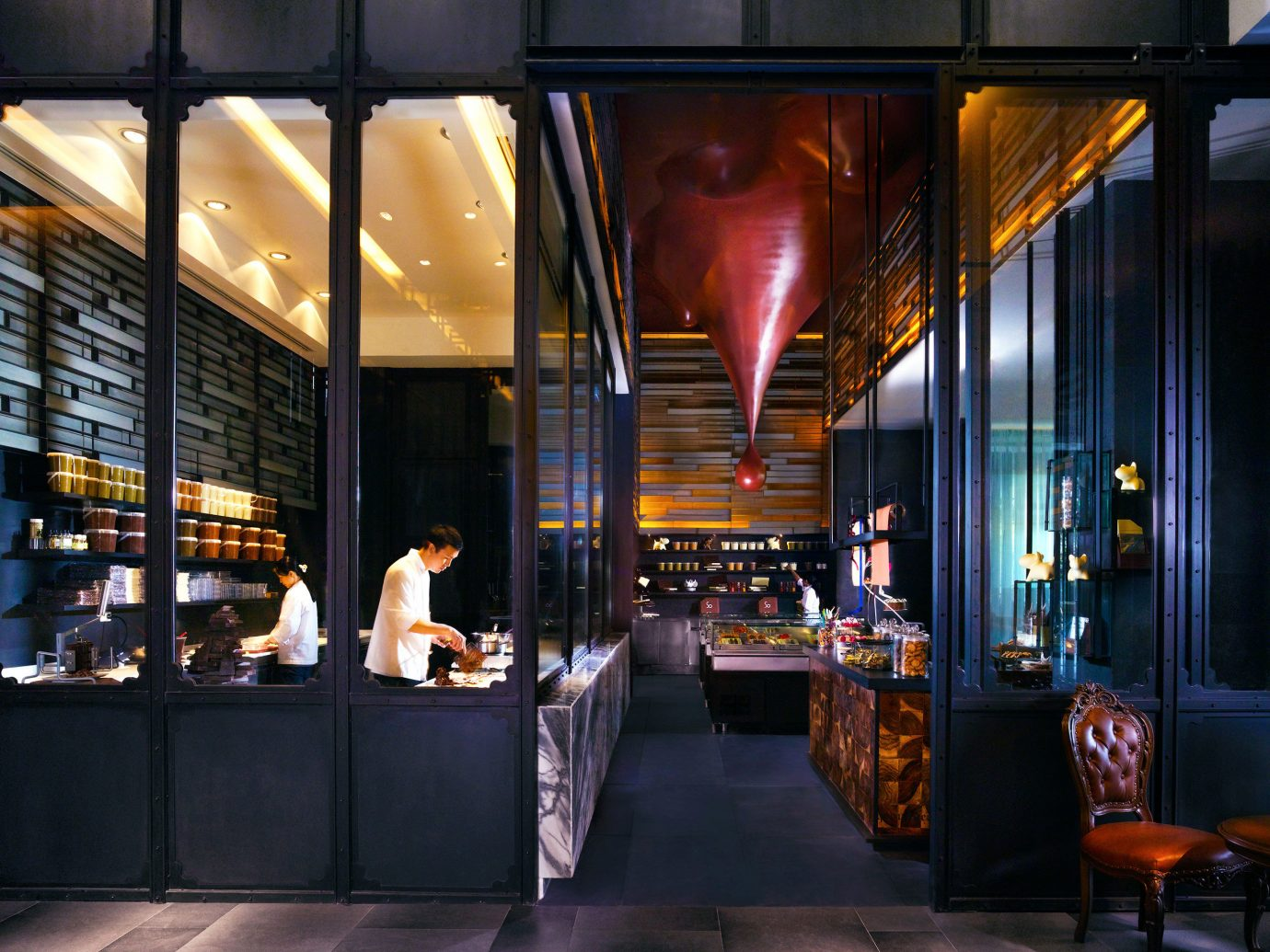 Architecture City Design Dining Eat Hip Hotels Luxury Scenic views window restaurant Bar interior design meal