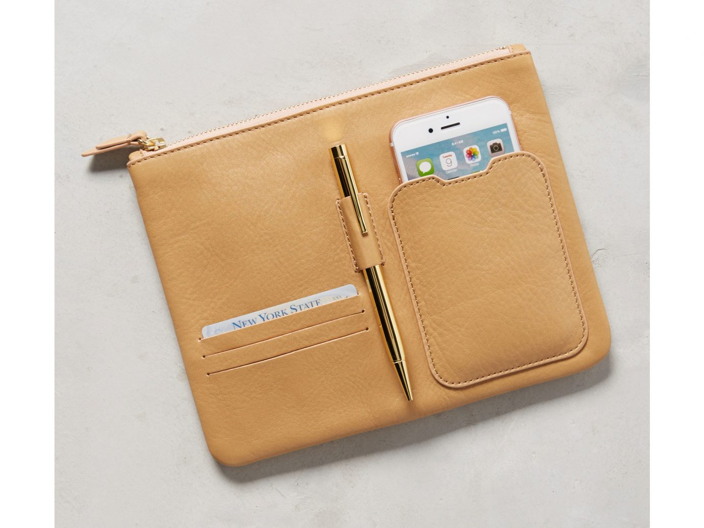 Style + Design case accessory brown wallet bag fashion accessory leather brand coin purse beige handbag