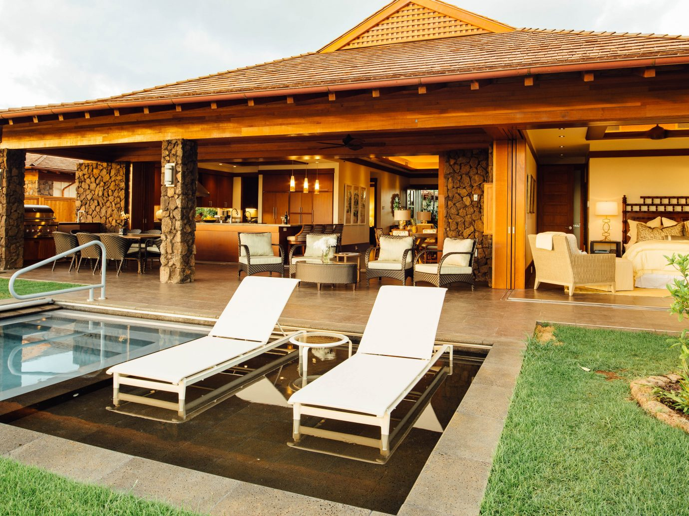 Hotels outdoor building grass property estate home Villa outdoor structure real estate Resort backyard swimming pool Courtyard pavilion eco hotel hacienda Patio mansion