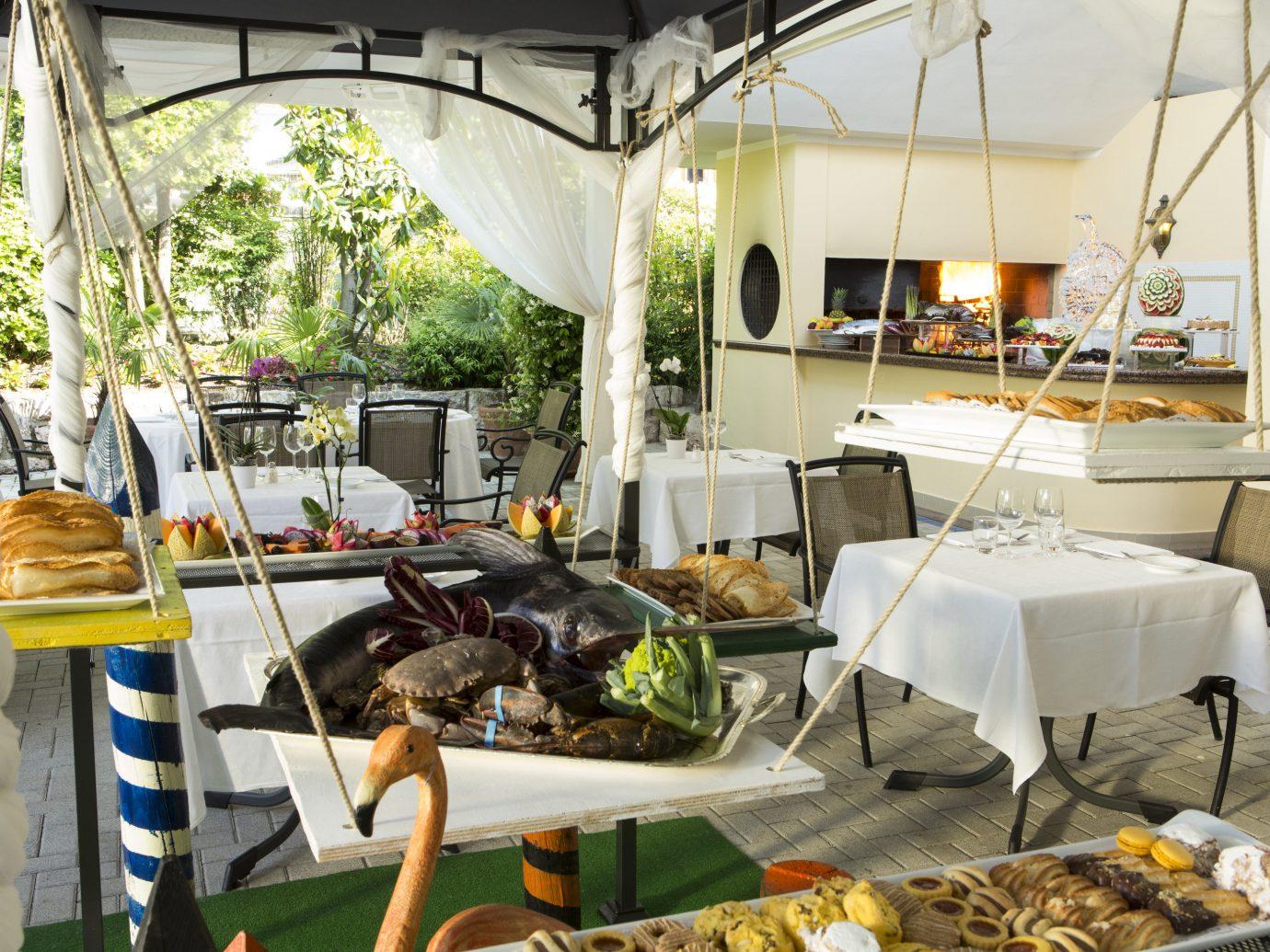All-Inclusive Resorts Hotels brunch food table restaurant interior design