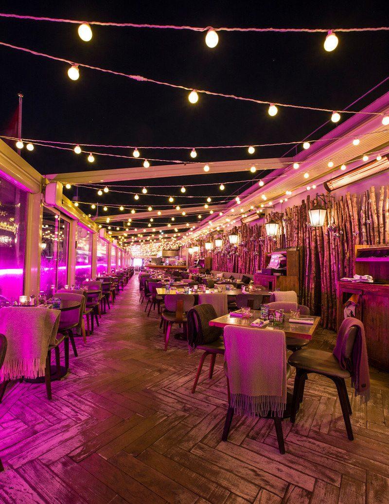 Food + Drink night lighting function hall restaurant evening wedding reception
