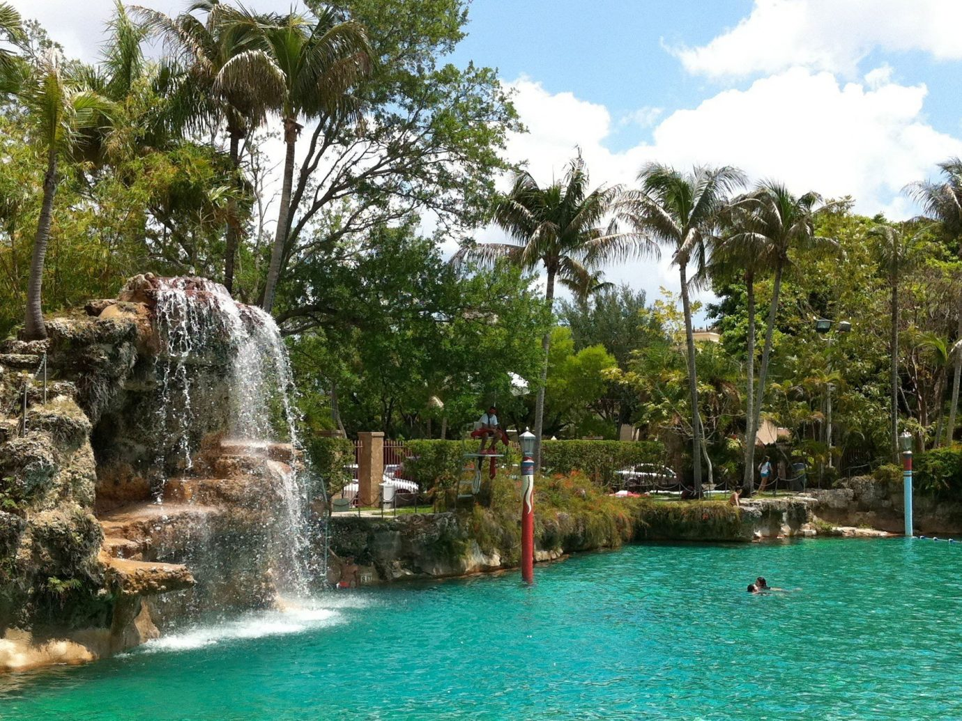 Trip Ideas tree outdoor sky water swimming pool Resort estate Water park park Lagoon plant surrounded several