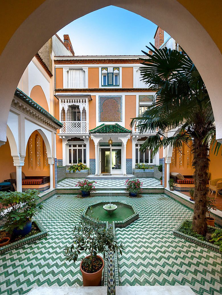 Health + Wellness Luxury Travel Trip Ideas outdoor building Courtyard Architecture estate home arch real estate hacienda mansion house window facade interior design hotel Villa stone