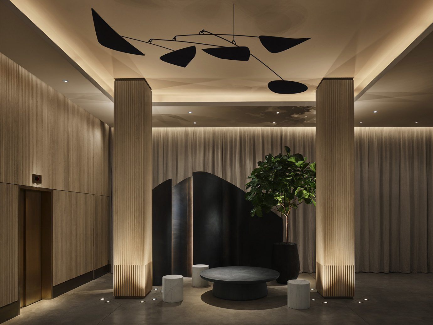 Hotels indoor wall ceiling room Lobby light Architecture interior design lighting Design hall window covering furniture Modern
