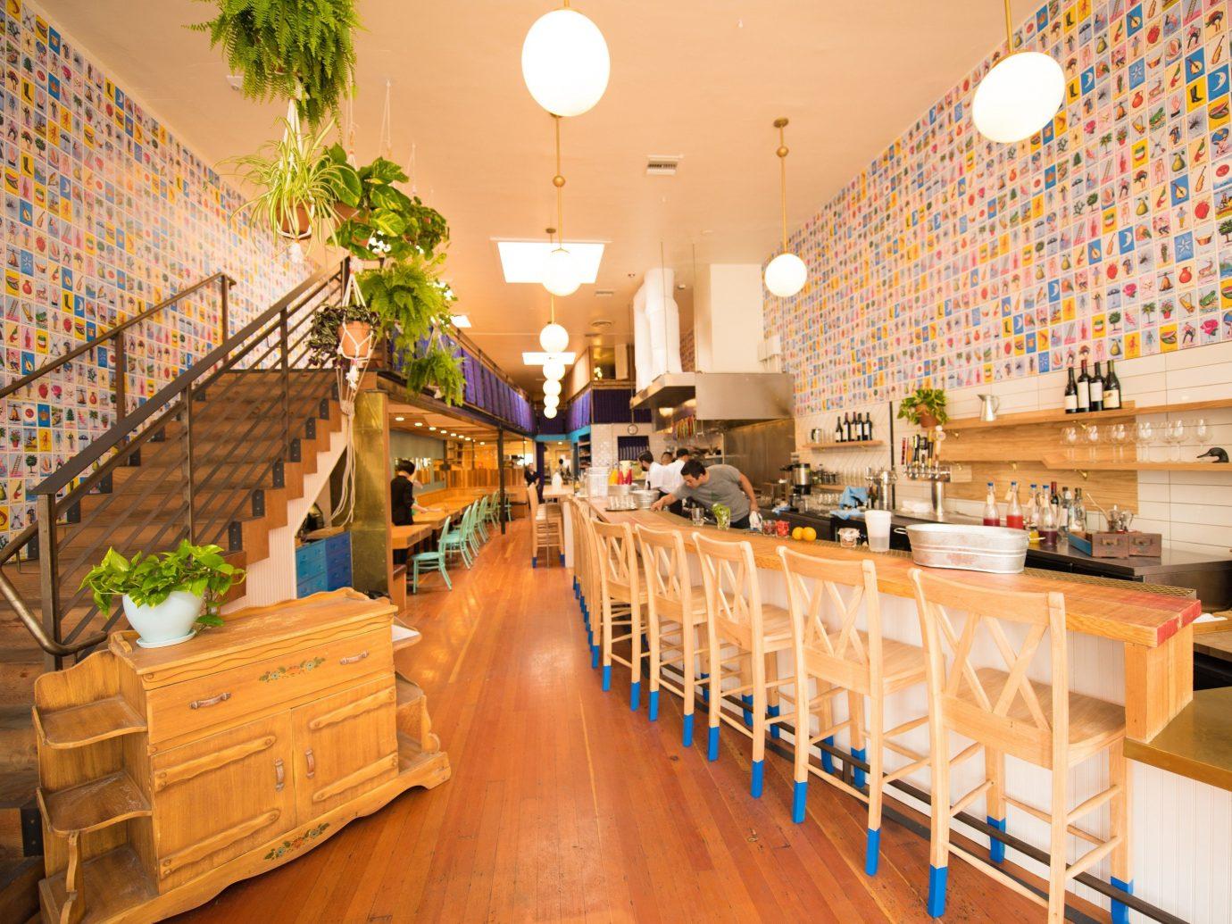 Summer Series floor indoor aisle restaurant meal interior design furniture wood