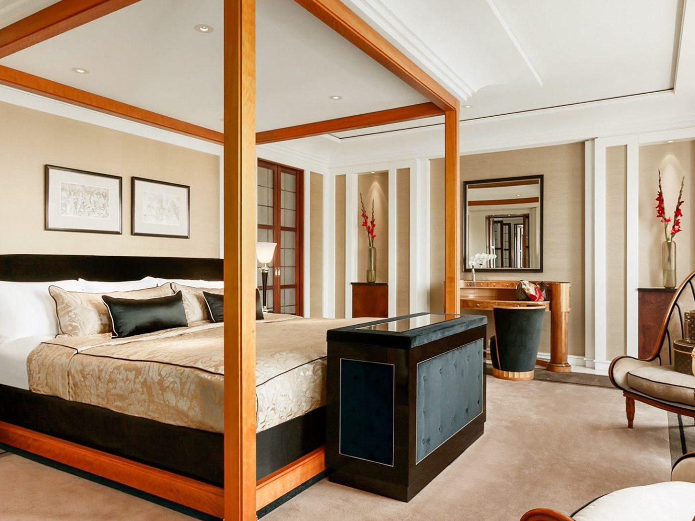 Berlin Boutique Hotels Germany Hotels Luxury Travel indoor floor wall room Suite interior design ceiling bed Bedroom real estate furniture window living room flooring