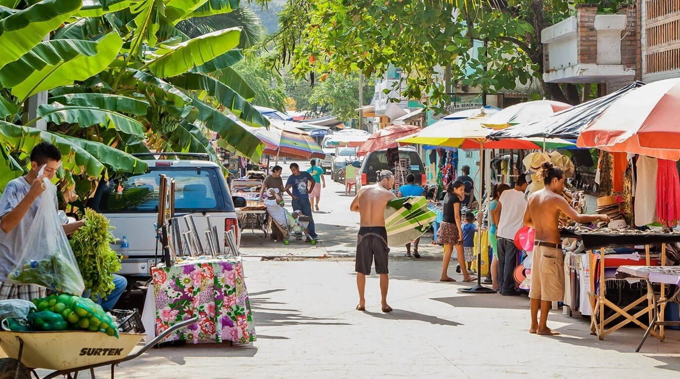 craft fair in surfer beach town of Sayulita, Mexico