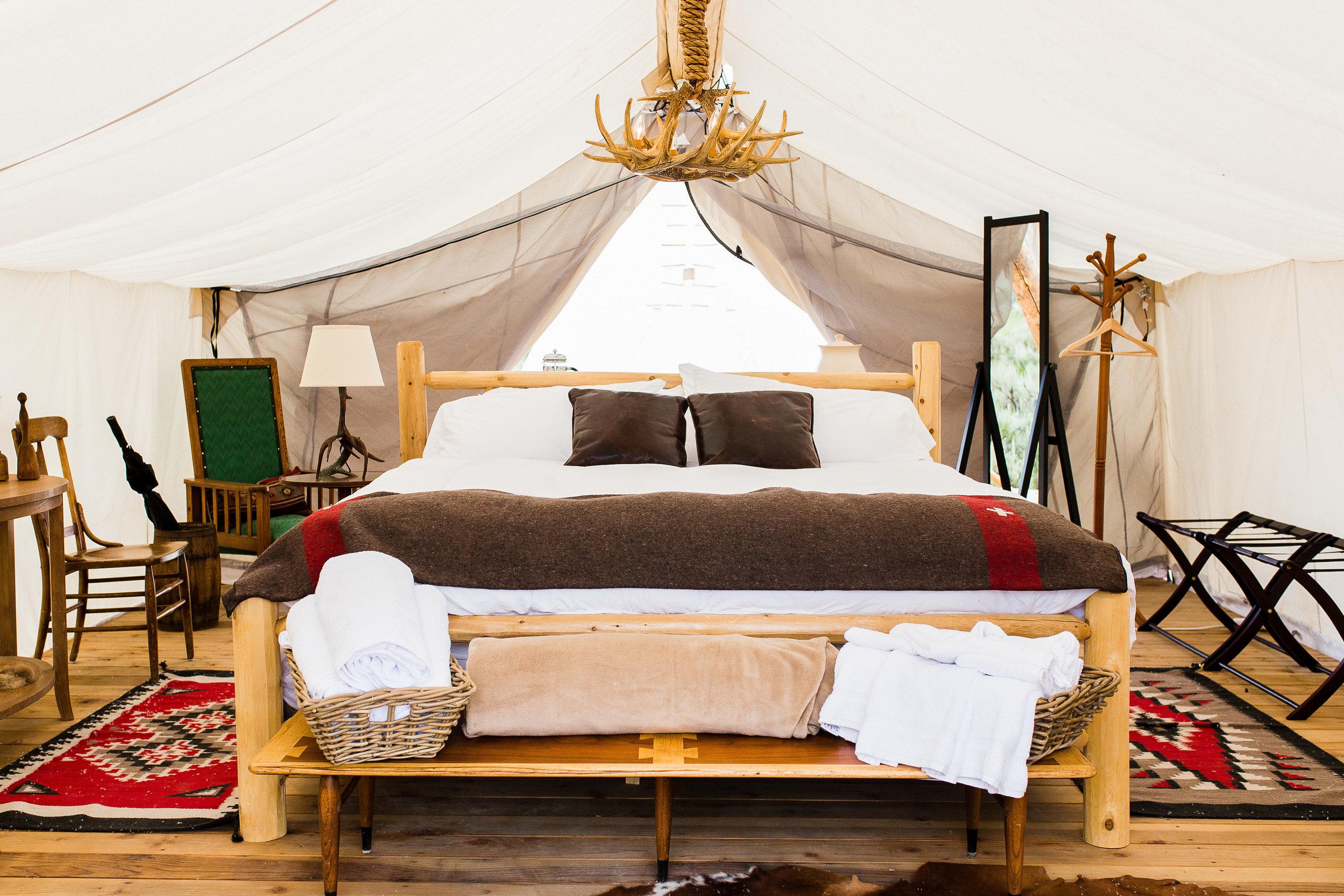 Glamping Luxury Travel Trip Ideas indoor floor furniture room bed frame bed interior design Bedroom Suite ceiling product mattress