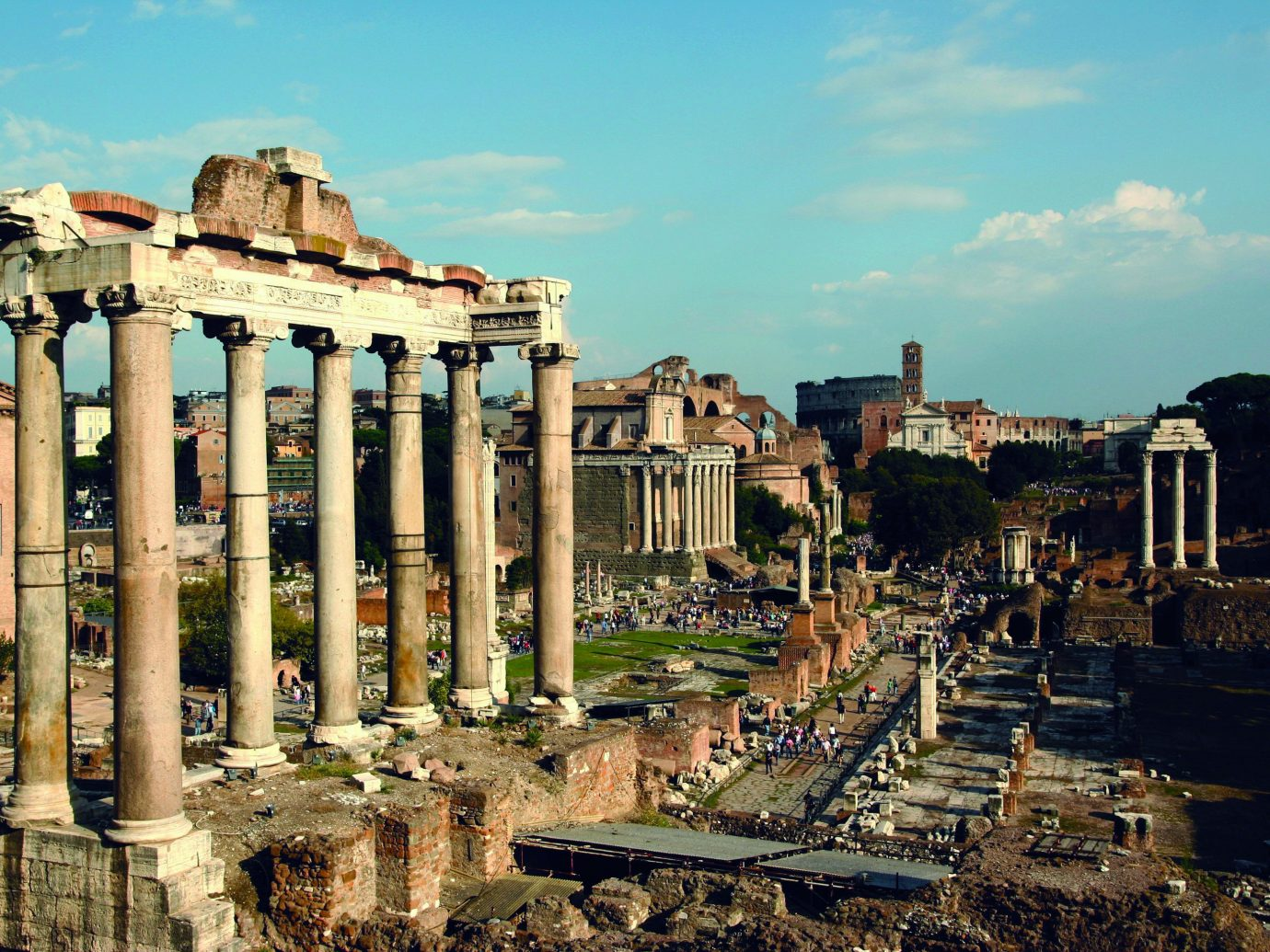 Budget Trip Ideas sky outdoor building landmark historic site Town structure ancient rome human settlement ancient history cityscape Ruins ruin ancient roman architecture palace plaza colonnade several