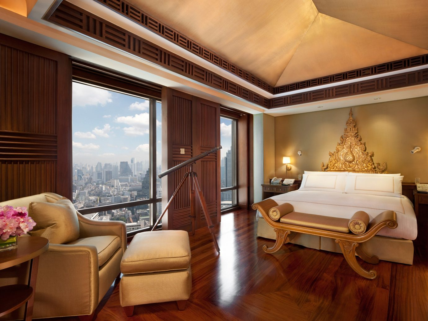 Bedroom City Hotels Romance Scenic views indoor floor window room property ceiling living room estate Suite home interior design real estate mansion Villa furniture