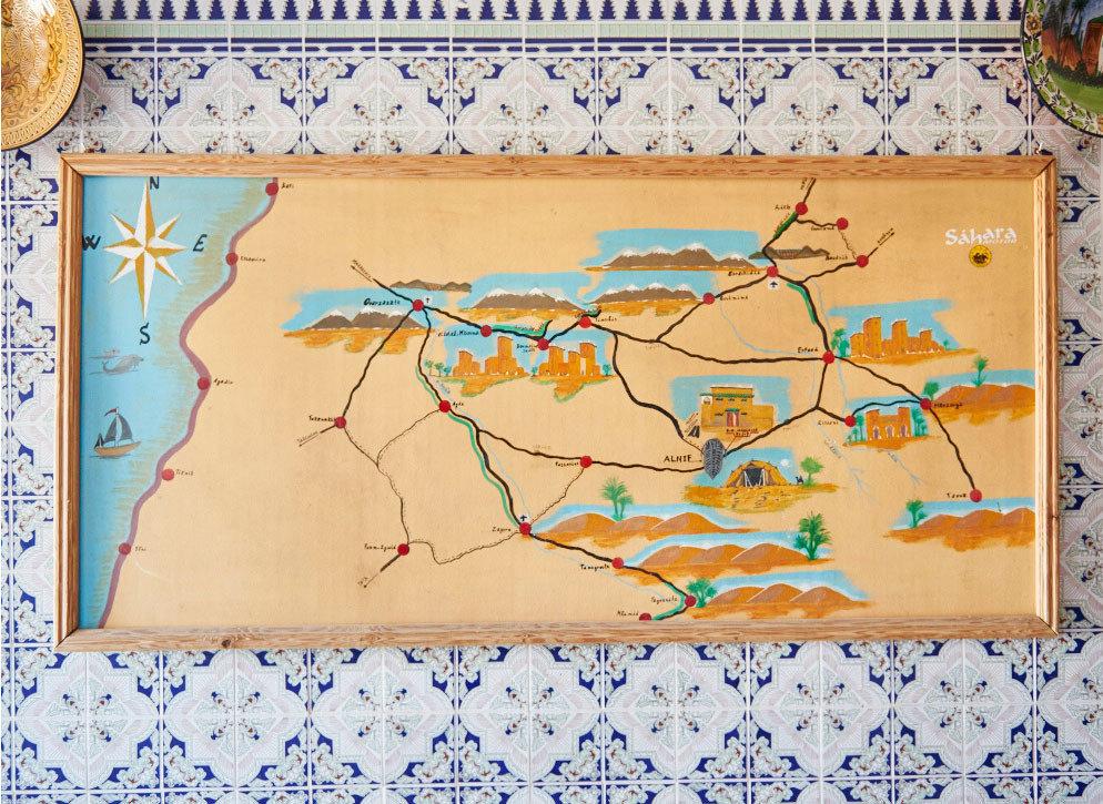 Jetsetter Guides Road Trips envelope stationary art map illustration drawing picture frame