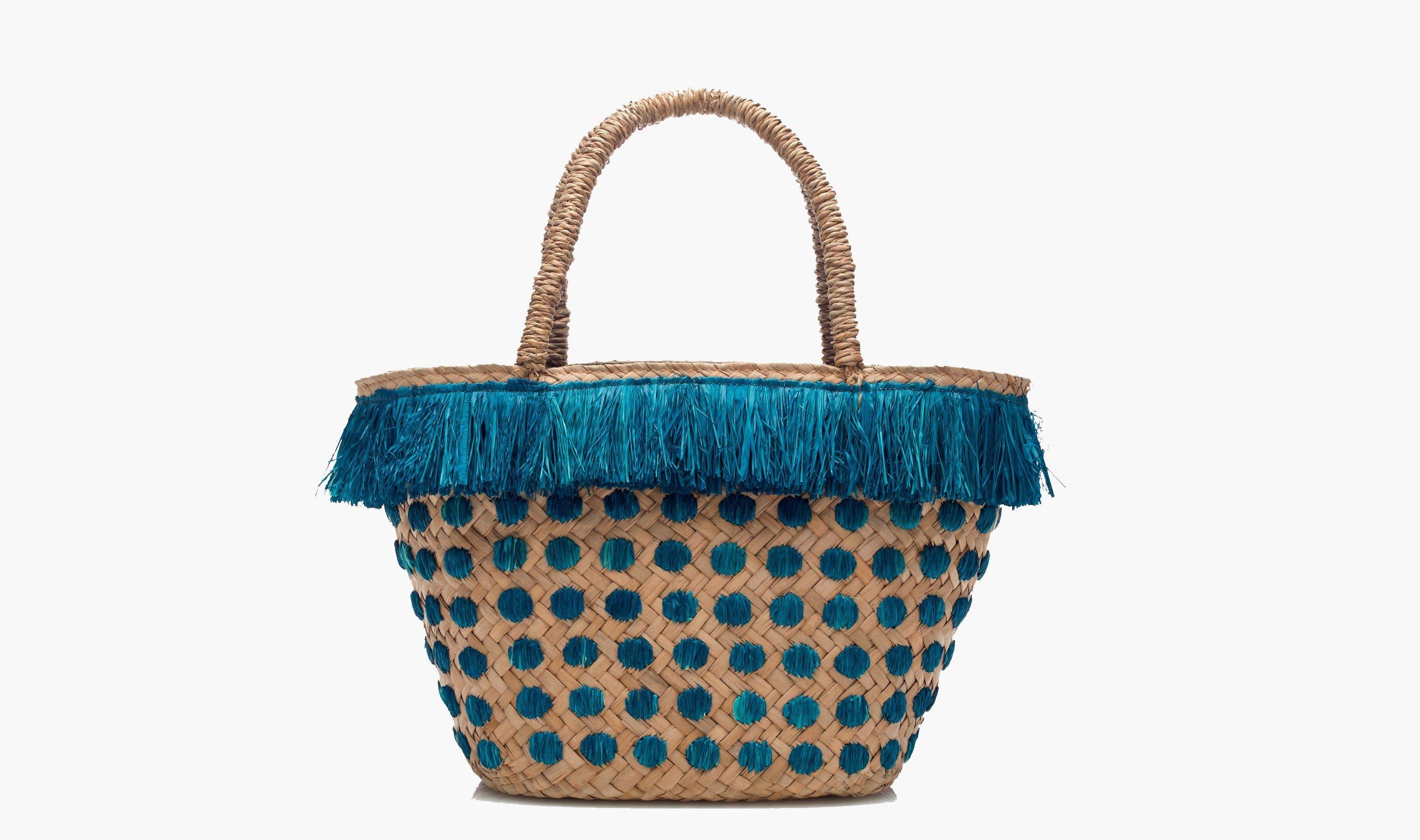 Style + Design handbag blue bag fashion accessory pattern tote bag basket Design textile shoulder bag