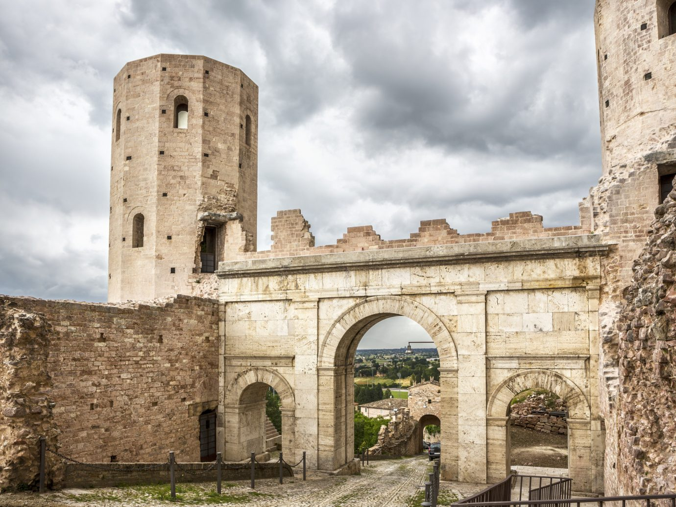 Trip Ideas building outdoor sky stone Ruins historic site landmark arch ancient history Architecture fortification brick ancient roman architecture old monastery place of worship history abbey tall middle ages bastion