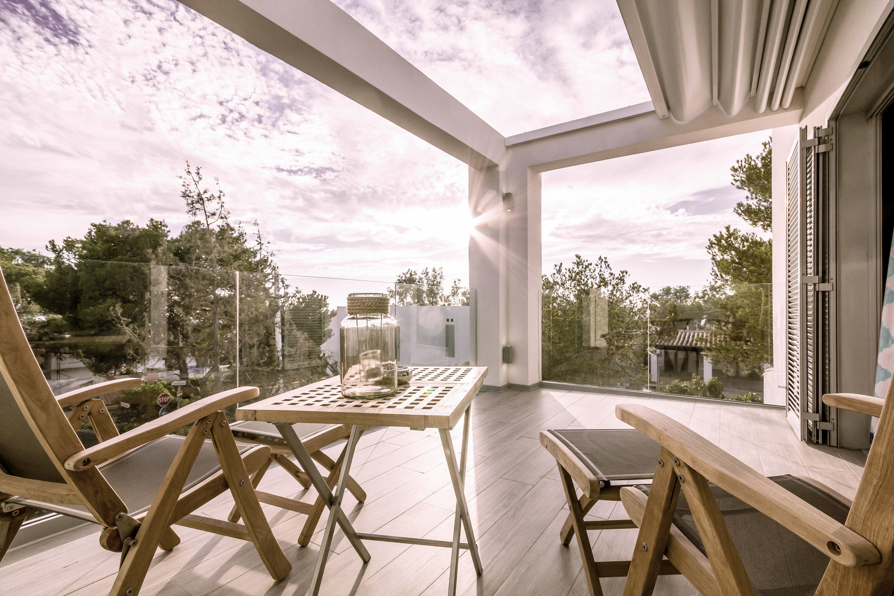 europe Trip Ideas chair indoor property Architecture estate interior design home real estate window house Balcony Patio porch outdoor structure apartment daylighting Dining ceiling penthouse apartment furniture dining table